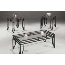 Contemporary Glass Three-piece Table Set