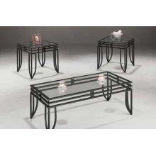 Contemporary Glass Three-piece Table Set