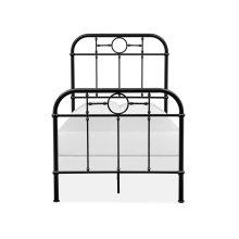 Complete Twin Metal Bed - Black