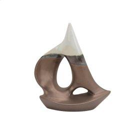 "Ceramic 10"" Sail Boat, Bronze"