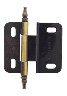 Non Self-closing, Adjustable 3/8in(10mm) Inset Hinge