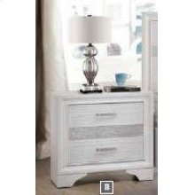 Miranda Modern Two-drawer Nightstand With Hidden Jewelry Tray