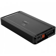 Super efficient class D bridgable 5-channel mobile audio amplifier in Black