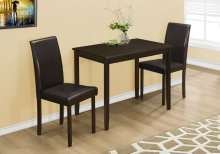 DINING SET - 3PCS SET / CAPPUCCINO / BROWN PARSON CHAIRS
