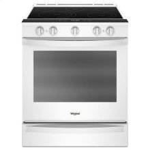Whirlpool® 6.4 Cu. Ft. Smart Slide-in Electric Range with Frozen Bake Technology - White
