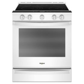 Whirlpool® 6.4 Cu. Ft. Smart Slide-in Electric Range with Frozen Bake™ Technology - White