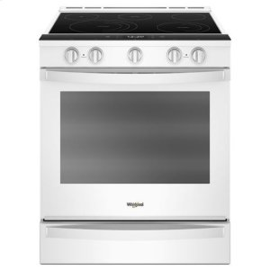 Whirlpool(R) 6.4 Cu. Ft. Smart Slide-in Electric Range with Frozen Bake(TM) Technology - White - WHITE