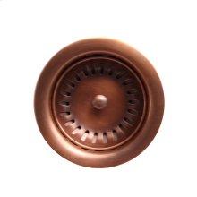 """Kitchen Drain - 3-1/2"""" - Antique Copper"""