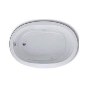 """Easy-Clean High Gloss Acrylic Surface, Oval, Whirlpool Bathtub, 42"""" X 60"""""""