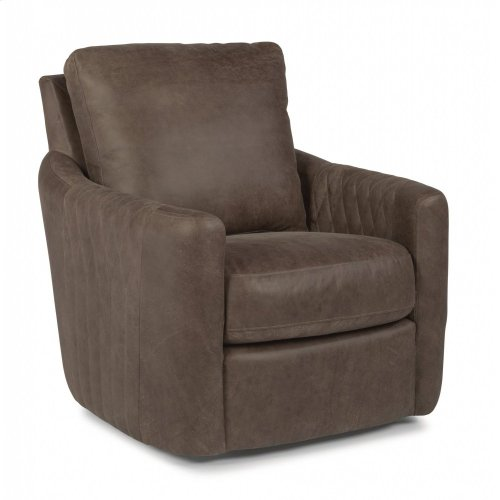 Poppy Leather Swivel Chair