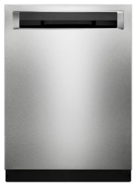 46 DBA Dishwasher with Third Level Rack and PrintShield™ Finish, Pocket Handle - PrintShield Stainless