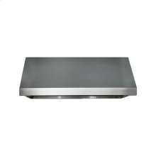 """Heritage 36"""" Pro Wall Hood, 18"""" High, Silver Stainless Steel"""