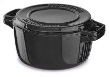 Professional Cast Iron 6-Quart Casserole - Onyx Black