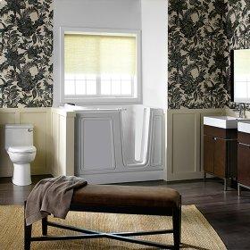 Acrylic Luxury Series 30x51 Right Drain Walk-in Bathtub with Air Spa System  American Standard - White