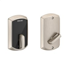 Schlage Control Smart Deadbolt with Greenwich trim - Satin Nickel