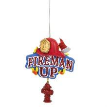 """Fireman Up"" Ornament."