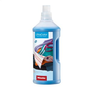 MieleUltraColor liquid detergent 67.6 fl. oz. for color and black garments.