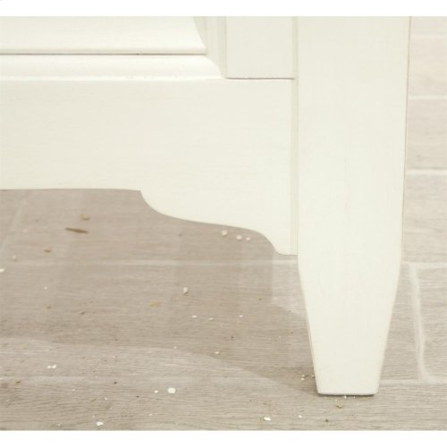 Myra - Full/queen Upholstered Headboard - Paperwhite Finish