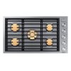 """Dacor 36"""" Drop-In Gas Cooktop, Graphite Stainless Steel, Natural Gas"""