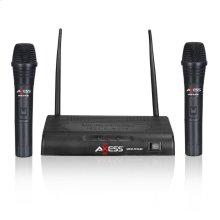 MPWL1510-BK Wireless Dual Microphone VHF Frequency