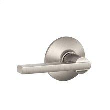 Latitude Lever Hall & Closet Lock - Satin Nickel
