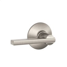 Latitude Lever Hall & Closet Lock - Satin Nickel