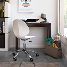 Metal and plastic swivel chair