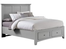 Queen Grey Mansion Storage Bed