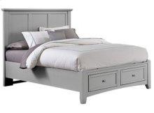 VAUGHAN BASSETT BB26-558-050B-502-555T Bonanza Grey Queen Mansion Storage Bed