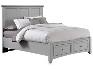 VAUGHAN BASSETT BB26-558-050B-502-555T Bonanza Grey Queen Mansion Storage Bed