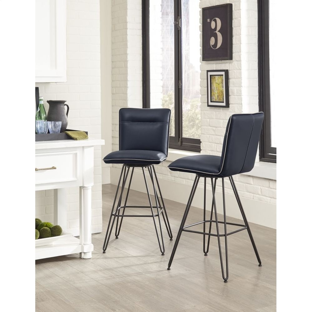 Demi Bar Height Stool with Cobalt Finish