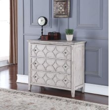 Lucia 3 Drawer Chest ANTIQUE WHITE