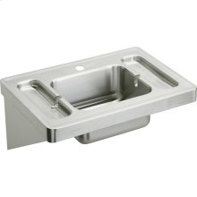 """Elkay Stainless Steel 28"""" x 20"""" x 7-1/2"""", Wall Hung Lavatory Sink"""