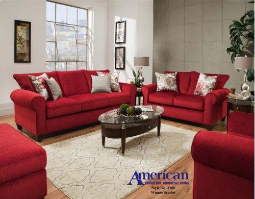 3300 - Winnie Scarlet Sofa