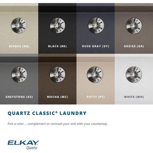 "Elkay Quartz Classic 25"" x 22"" x 11-13/16"", Drop-in Laundry Sink with Perfect Drain, Greystone"