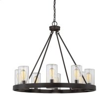 Inman 8 Light Outdoor Chandelier