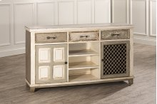 Larose Console Table With 2 Door Storage and Wine Rack