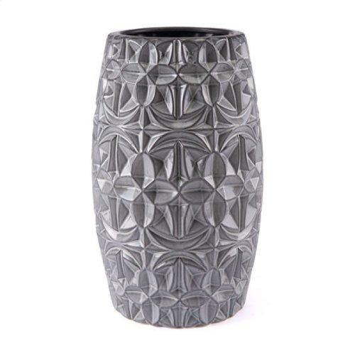 Tupi Round Vase Sm Gray