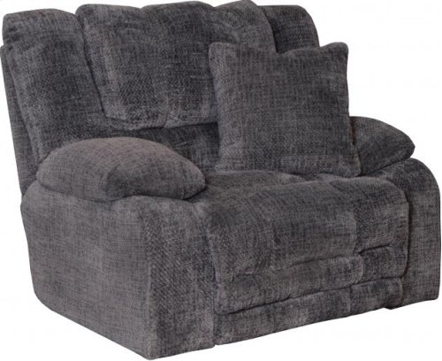 Power Lay Flat Reclining Console Loveseat w/Extended Ottoman