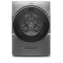 Whirlpool® 5.0 cu. ft. Smart Front Load Washer with Load & Go XL Plus Dispenser - Chrome Shadow