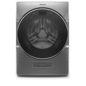 Whirlpool® 5.0 cu.ft. Smart Front Load Washer with Load & Go™ XL Plus Dispenser, 40 Loads - Chrome Shadow