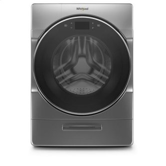 Whirlpool(R) 5.0 cu. ft. Smart Front Load Washer with Load & Go(TM) XL Plus Dispenser - Chrome Shadow