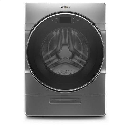 Whirlpool® 5.0 cu. ft. Smart Front Load Washer with Load & Go™ XL Plus Dispenser - Chrome Shadow