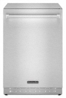 "Outdoor Refrigerator 24"" Width 6.0 cu. ft. 304 Stainless Steel Cabinet Built-In or Freestanding Installation Interior Light"