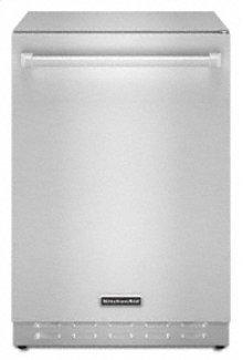 "Outdoor Refrigerator 24"" Width 6.0 cu. ft. 304 Stainless Steel Cabinet Built-In or Freestanding Installation Interior Light"
