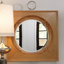 Ring Mirror-Light Limed Finish