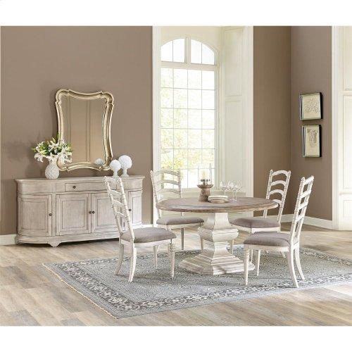 "Elizabeth - 54"" Round Dining Table Top - Antique Oak Finish"
