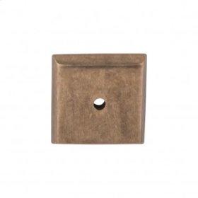 Aspen Square Backplate 1 1/4 Inch - Light Bronze