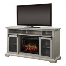 Olivia Media Console Electric Fireplace