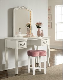 Clover Vanity Stool - Blush